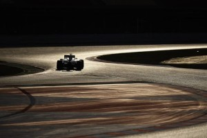 Ferrari's German driver Sebastian Vettel takes part in the fourth and last segment of Formula One pre-season tests at the Circuit de Catalunya, in Montmelo on the outskirts of Barcelona on March 1, 2015.    AFP PHOTO/ QUIQUE GARCIA