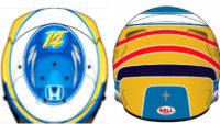 Nuevo casco para Fernando Alonso y llevará la Cruz de la Victoria