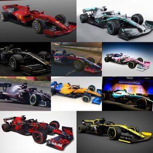 Ya están todos los monoplazas de la temporada F1 2019; Así son, así se presentaron